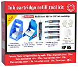 Red Star Ink Cartridge Refill Tool kit for hp 63 62 61 60 64 65 67 & 901 Black and Color Ink Cartridge ( Tools for Ink Filling, Nozzle Cleaning, Ink Suction Priming Holder Clip & Instructions )
