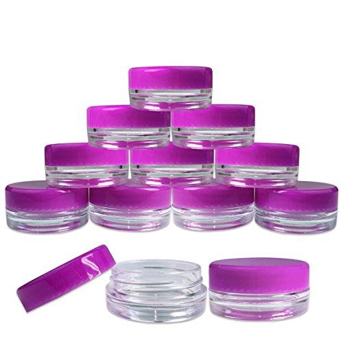 (25 Pieces Jars + Lid) Beauticom 3G/3ML Round...