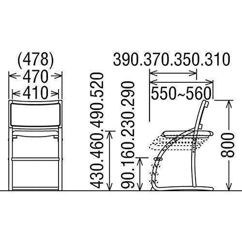 カリモクデスクチェア・学習チェア・学習椅子/XT2401cresce/クレシェピュアビーチ色幅470mm張地カラー:P)ピーチピンク