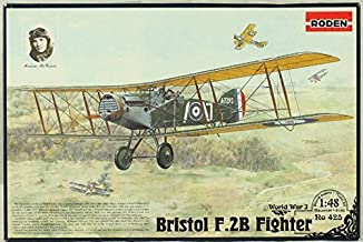 Roden 1:48 WWI Biplane Bristol F-2B Fighter Plastic Model Kit #425 by Roden