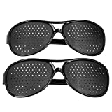 Keenso Gafas estenopeicas, Gafas de corrección de la visión, Gafas antimiopía para PC, Gafas para Mejorar la visión, antifatiga(Adult)