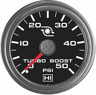 TruckMeter Hewitt 102TM5005 Universal Turbo Boost Gauge KIT - 50 PSI