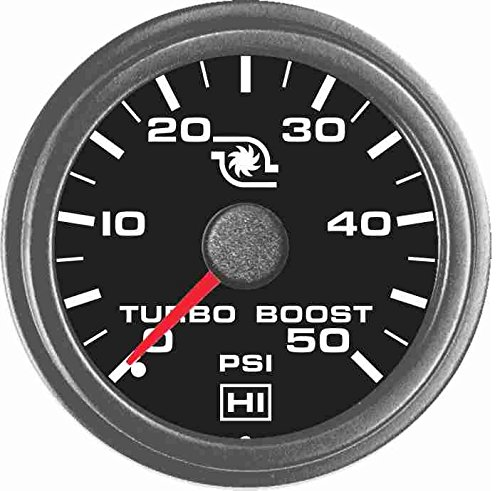 TruckMeter Hewitt 102TM5005 Universal Turbo Boost Gauge KIT - 50 PSI