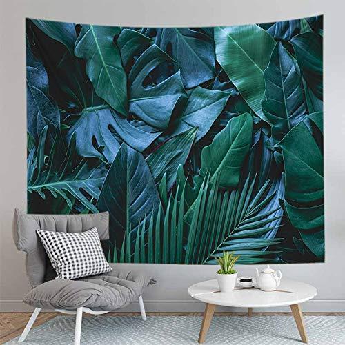 WERT Tapiz de Planta de Selva Tropical 3D decoración Colgante de Pared patrón de Panda Fondo decoración del hogar Tapiz A5 180x200cm