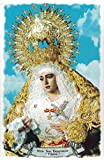 Virgen de la Esperanza de Triana de Sevilla. Azulejo fabricado artesanalmente para decorar. Cerámica para colgar. Calca cerámica (20x30 cms)