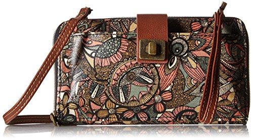 Sakroots womens Women's Artist Circle cross body handbags, Sienna Spirit Desert, One Size US