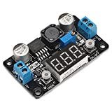 DROK 180057 LM2596 Analog Control Buck Converter DC-DC 4-32V to 1.25-30V Step-down Regulator Module 24V 12V to 5V 3A Power Inverter Volt Stabilizer with Red LED Display