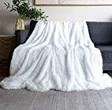 Throw Blanket for Couch King Size 78' x 90',Soft Bedding White Fuzzy Blanket Lightweight Fluffy Blanket for Baby,Bed,Sofa Cover White Faux Fur Blanket
