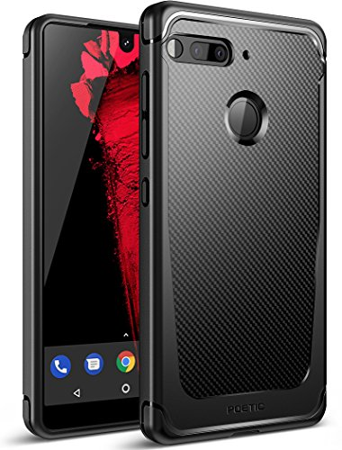 Poetic Essential Phone Case, Karbon Shield [Shock Absorbing] Slim Fit TPU Case with [Carbon Fiber Texture] for Essential Phone PH-1 Black