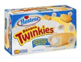 Hostess, 'The Sweetest Comeback in History', Various Styles and Flavors, 10 Count,13.58oz Box (Pack of 3) (Banana Creme filled Twinkie)