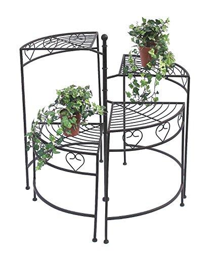 27 DanDiBo Sgabello fiori Merano Mosaico Set di 3 12014 Porta fiori 20 37 cm Sgabello rotondo