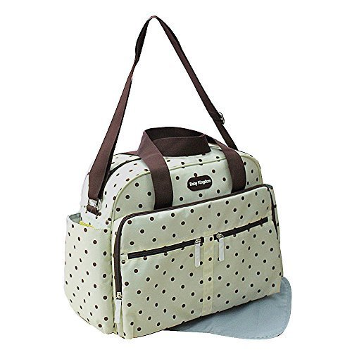 gmmhl 2 pièces bébé couleur sac à langer sac sac à langer Baby Sac Voyage Sélection de couleurs (Crème)