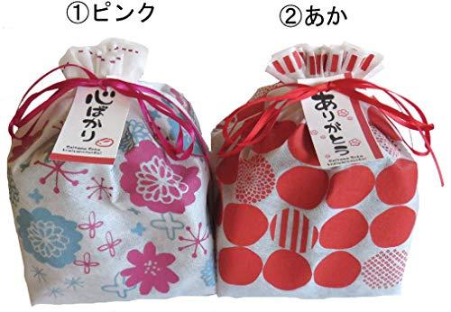 草加せんべい 巾着プチギフト 10枚入  (ピンク, ほんの気持ちです)