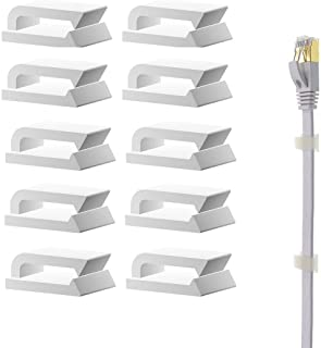 Ethernet Cable Clips Adhesive, Wire Clips Holder, Self Adhesive Wire Clips Management for Home and Office (100 Pieces)