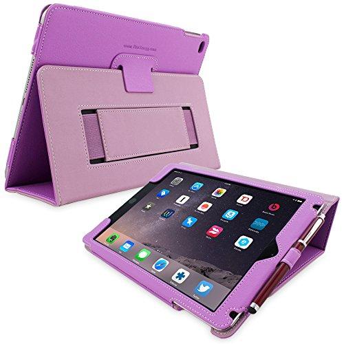 Snugg iPad 3/4Schutzhülle, Leder Schutz Klapphülle Case Cover Ständer für Apple iPad 3/4 - Violett