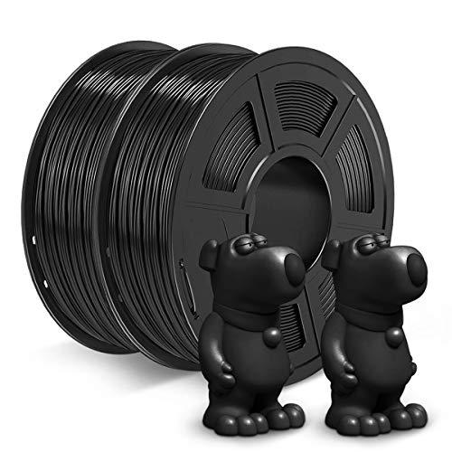 JAYO ABS Filament 1.75mm, 2kg Spool (4.4lbs) ABS 3D Printer Filament, Accuracy +/- 0.02 mm, No Tangle, No Clogging, Tougher Than PLA, Fit Most FDM Printers, ABS Black+Black