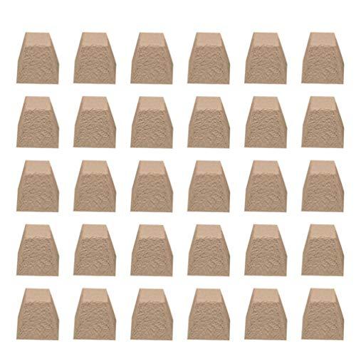 Cabilock 100 Stück Torf Töpfe Quadratische Töpfe für Ihr Gartengewächshaus Oder Kindergarten Ideal für Die Gartenarbeit mit Bio-Saatgut (Hellbraun)