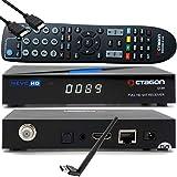 Octagon SX89 HD H.265 S2+IP HEVC Set-Top Box - Receptor Sat & Smart TV IP, Lector de Tarjetas, Servidor de Medios, DLNA, Youtube, Radio Web, App iOS y Android, USB PVR, 150Mbits WiFi Stick