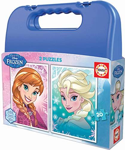 Educa- Frozen Maleta Progresivos 2 Puzzles Infantiles de 20 Piezas, a Partir de 3 años (16511)