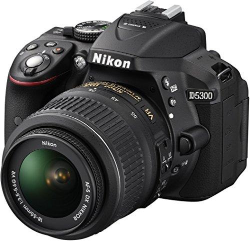 Nikon D5300 Digital SLR Camera with 18-55mm VR Lens Kit - Black (24.2 MP)...