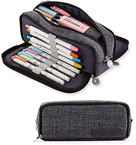 ペンケース 筆箱 おしゃれ筆箱 多機能ペンケース 男の子と女の子に適しています 小学生 中学生 高校生 シンプル人気ペンケース (水墨画)