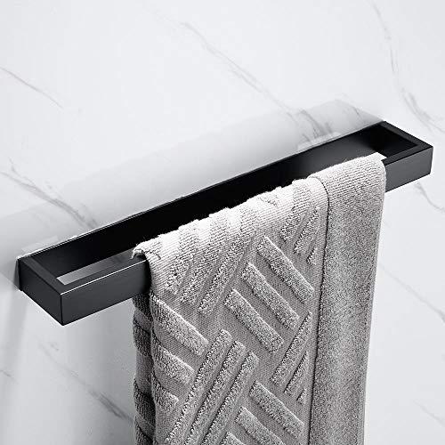 Melairy Handtuchhalter Ohne Bohren Gästehandtuchhalter Edelstahl Schwarz Handtuchstange Selbstklebend 40 cm