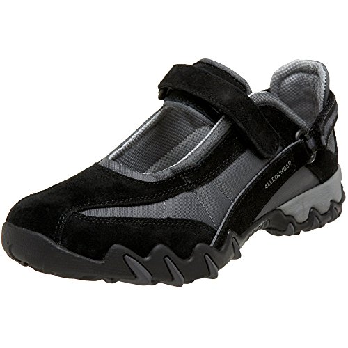 Allrounder by Mephisto Women's NIRO Sneaker, Black/Black, 9.5