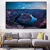 vbewuvbiewv Moderne Landschaft Leinwand Malerei New Mexico zu Grand Canyon Plakate und Drucke Wandkunst Bilder für die Inneneinrichtung 60x90cm ohne Rahmen