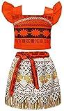 AmzBarley Moana Vaiana Disfraz Costume Niña Bebe, Princesa Disfraz Completo de Vestido Niña Traje Adventure Infantil Traje de Fantasía Clásico para Fiesta Carnaval Halloween Cosplay 11-12 Años 150