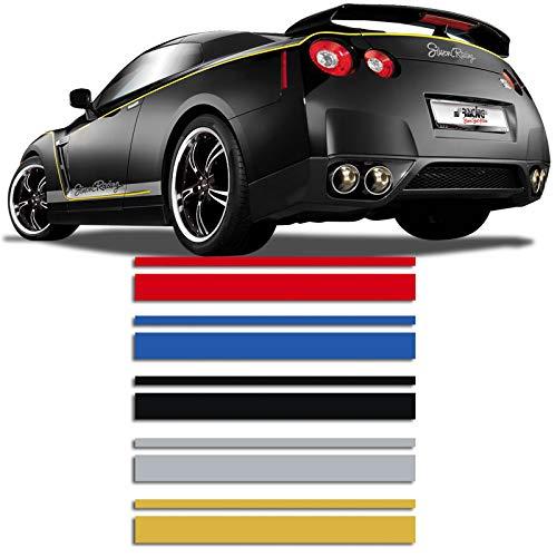 Universelle Selbstklebende Pin-Stripe AutoStripe Cool350 - Schwarz - 2+3mm x 975cm