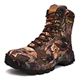TH&Meoostny Hombres Senderismo Zapatos de Tobillo biónico Militar Caza al Aire Libre Escalada Impermeable Especial Combate Botas de Trabajo Camuflaje D 43