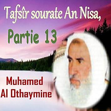 Tafsîr sourate An Nisa, Partie 13 (Quran)