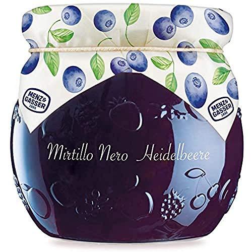 MENZ&GASSER Edel Confettura Extra Di Mirtilli Neri 55%, Con Frutta Di Alta Qualità, 1 Vaso X G, 620 Grammo