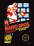 Nintendo Super Mario Bros NES Cubierta Lienzo Impresiones, poliéster, Multicolor, 40x 50cm