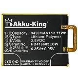 Akku-King Akku kompatibel mit Google HB416683ECW - Li-Polymer 3450mAh - für Google Nexus 6P, 6P A1, 6P A2, Huawei Angler, H1511, H1512
