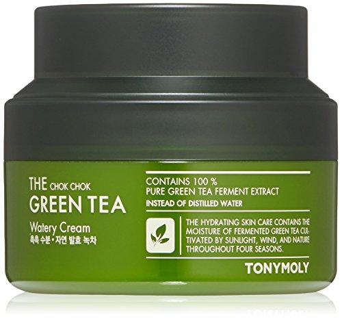TONYMOLY The Chok Chok Green Tea Watery Cream, 2.02 Fl Oz