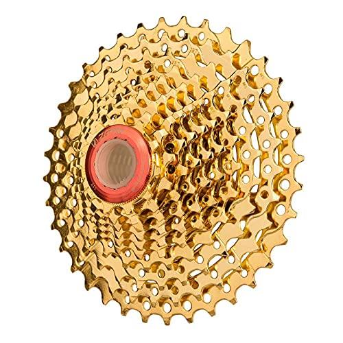 YPDWYJL 1st gyllene 10-växlad svänghjul 10-växlad 11-36t svänghjul 10s 36t tandhjul cykeltillbehör