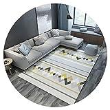 FOO Tapis Tapis carré, grand tapis moelleux à poil court pour tapis épaisseur de...