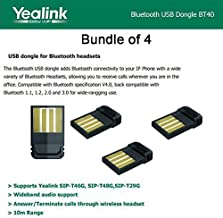Yealink BT40 BundleX4 Bluetooth USB Dongle for Yealink SIP-T46G,-T48G,-T29G