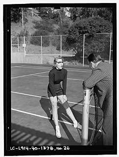 Infinite Photographs Photo: Lana Turner Posing, Tennis Court, Racket, Beverly Hills, CA, E Thiesen, 1940 3 Size: 8x10 (
