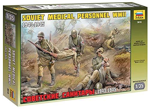 Zvezda Maqueta de Soviet Medical tropos WWII 530003618, Escala 1:35, de plástico, para Montar, réplica Detallada
