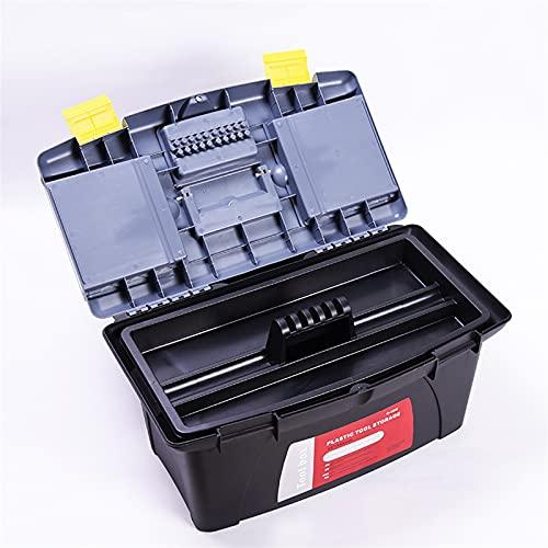 Organizador de caja de herramientas Caja de herramientas Caja de herramientas de plástico de hardware portátil con mango multifunción Hogar Almacenamiento Electricista Reparación de automóviles Organi