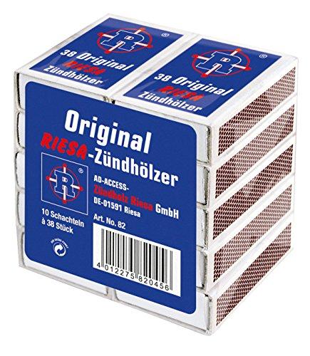 Riesa Original Zündhölzer 50 10er Packs (500 Schachteln), 0000082