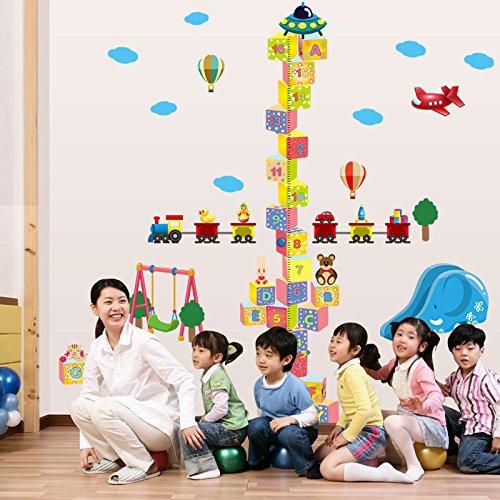 Sticker mural ZOZOSO Square Digital Building Block Hauteur Autocollants Stickers Muraux Décoratifs Pour Enfants