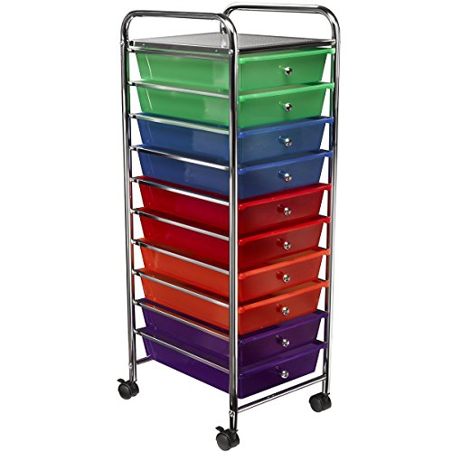Saganizer rolling cart 10-Drawer Rolling Organizer storage cart