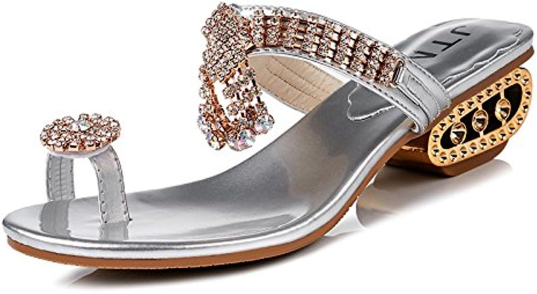 DNJKSA New Type of Herringbone Slippers in The Summer of 2019 Women Korean Version of Fashion Trend Flat Sole Comfortable Leisure