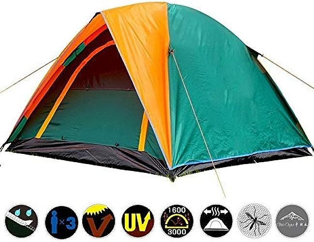 Liu xinling Tente extérieure, Tente de Camping Double pour 3 Personnes avec Tente de Tente de Tente étanche extérieure à Double Porte 205X180x140cm
