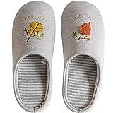ReedG Zapatos de Casa Inicio algodón Zapatillas de Madera Cubierta de Suelo Transpirable Silencio Cómodas Pantuflas de Algodón (Color : Beige, Tamaño : XL)