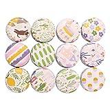 SUPVOX - Caja de latas de metal vacías para té, dulces, velas, regalos de boda (donuts, 12 unidades) 4 x 4 x 2.2cm Cartoon