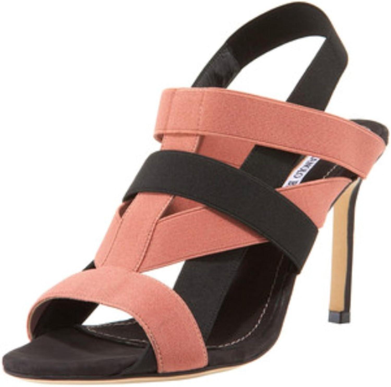 Manolo Blahnik Orina bluesh Black Heeled Sandals
